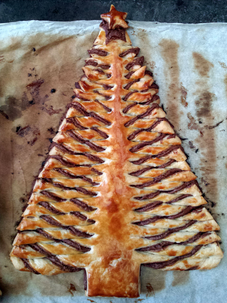 Nutella Christmas Tree.Nutella Christmas Tree Pastry