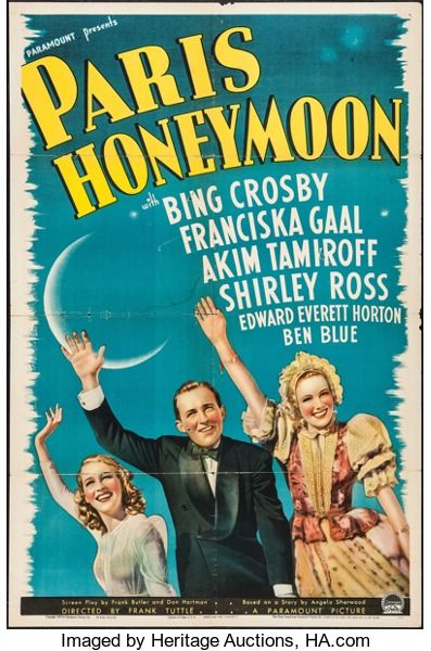 Movie Posters:Comedy, Paris Honeymoon (Paramount, 1939