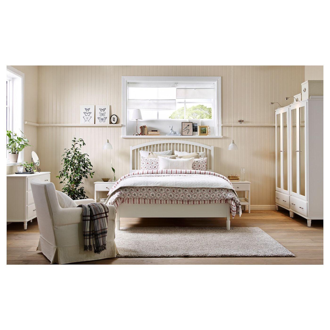 Tyssedal Bed Frame White Espevar Ikea Small Room Ikea Ikea Bedroom Sets Furniture