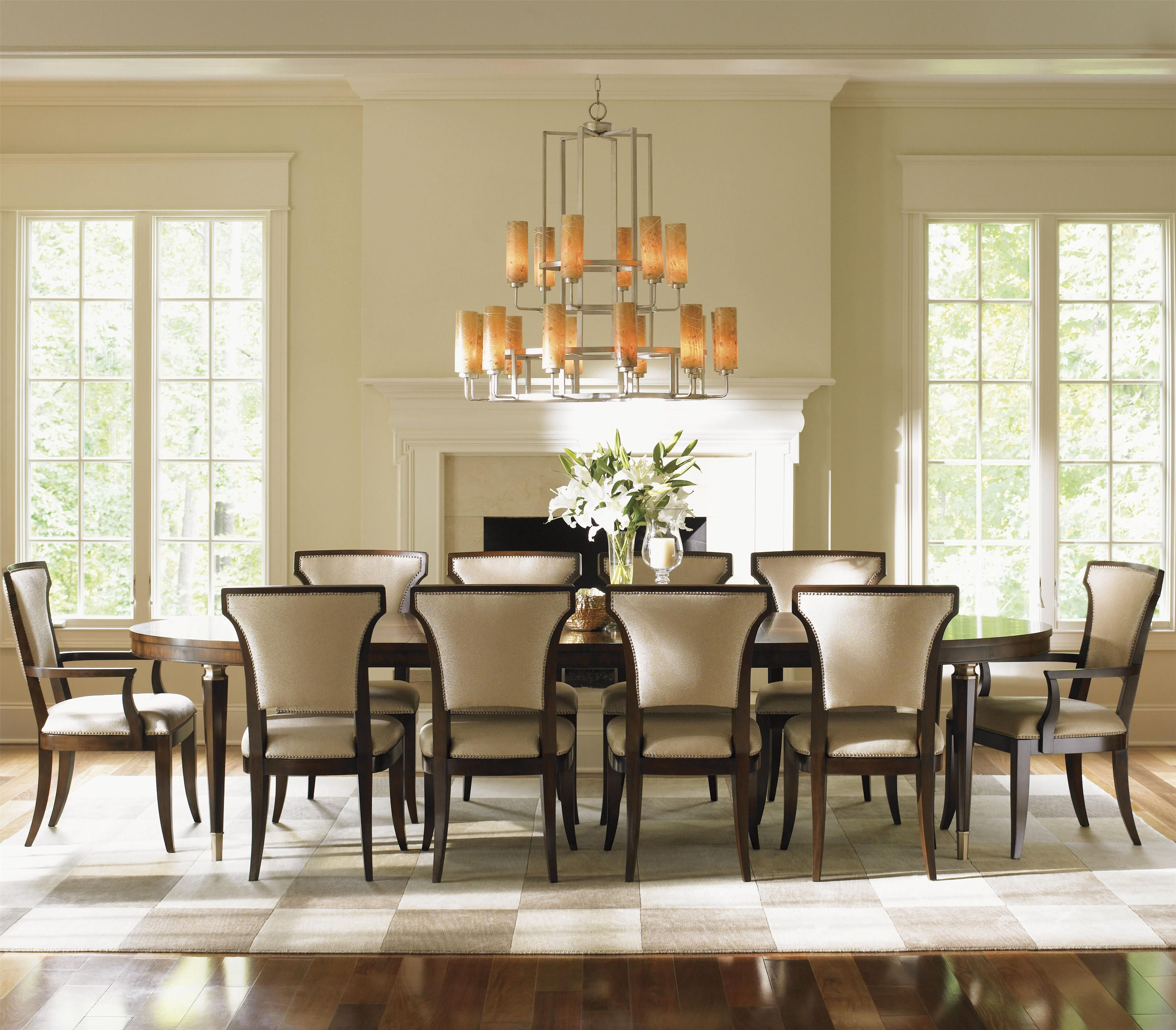 Tower Place 11 Piece Dining Set With Drake Table By Lexington At Baer S Furniture Dining Table Oval Table Dining Dining Room Chandelier