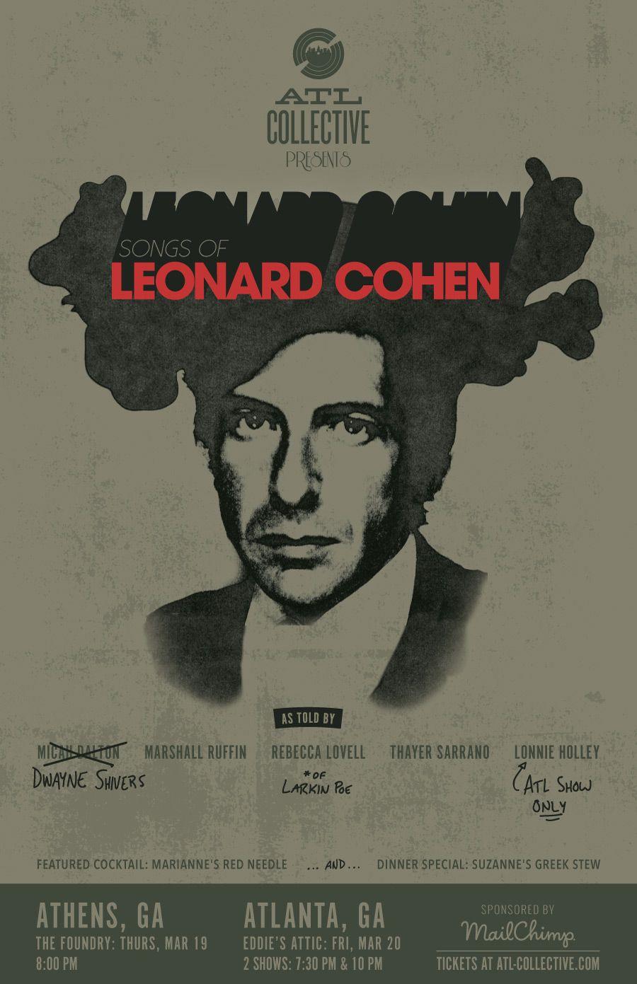 behance leonard cohen leonard