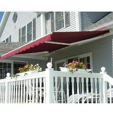 Aleko 12 Ft W 10 Ft D Retractable Patio Awning Color In 2020 Canopy Outdoor Patio Canopy Deck Awnings