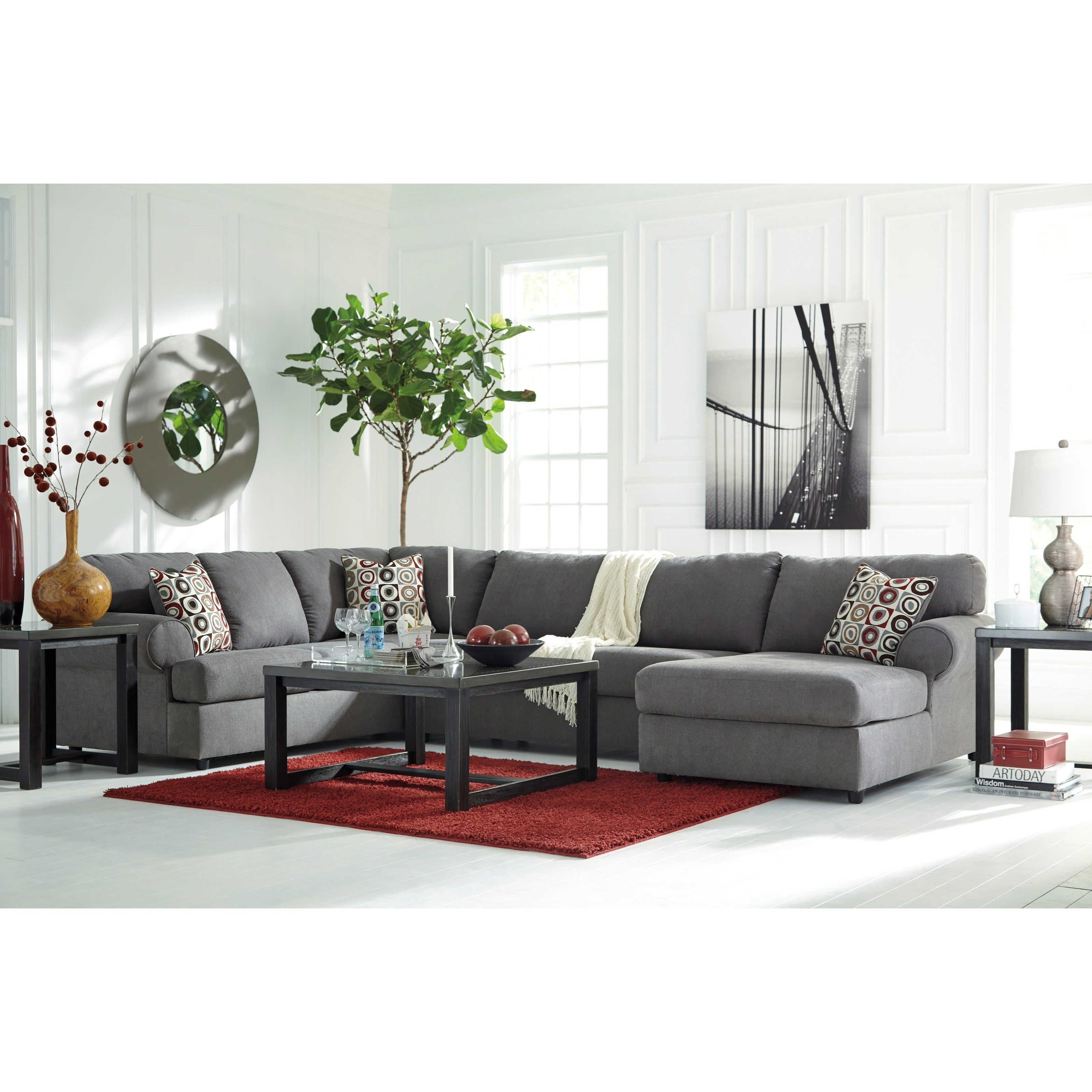 Jayceon Sectional with Right Chaise by Signature