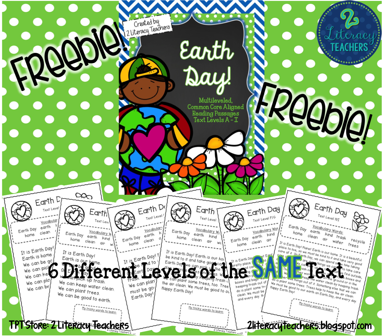 Earth Day Ccss Aligned Leveled Reading Passages And