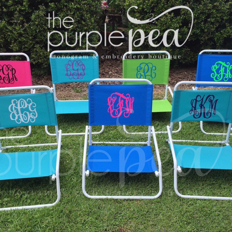 Beach Ready Beach Monogram Sand Chair