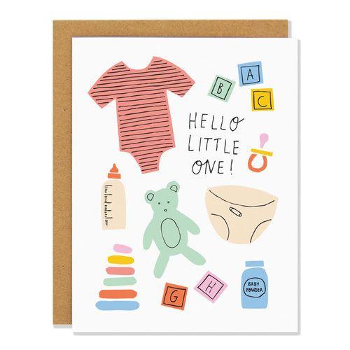 Badger & Burke-Hello Little One Baby Card