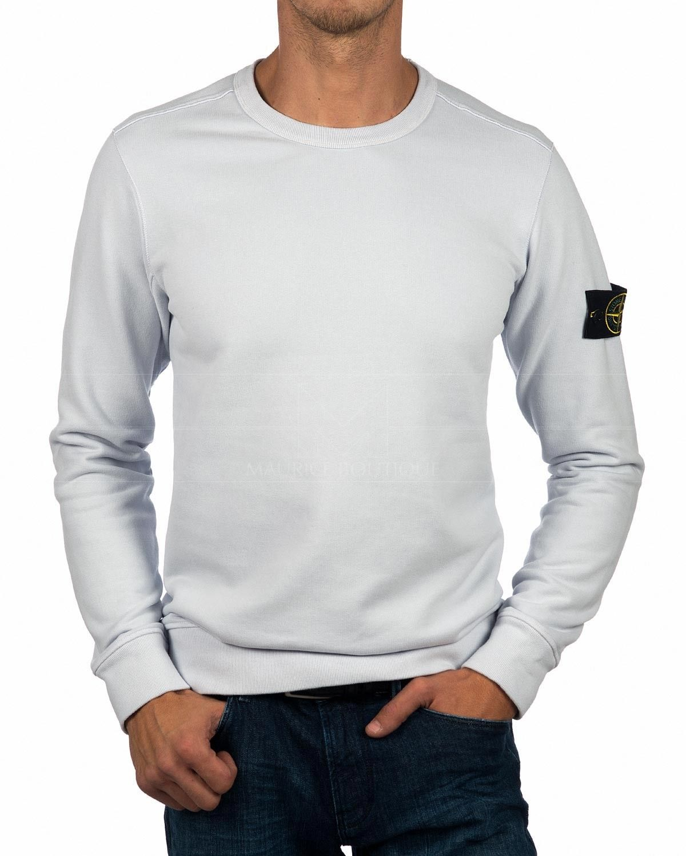 Stone Island Stone Island Crewneck Sweatshirt Light Grey Ghiaccio Sweatshirts Stone Island Crew Neck Sweatshirt