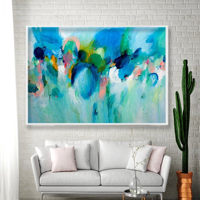 Modern Abstract Painting Large Wall Art Print Extra Large Wall Art Living Room Art In 2020 Modern Abstract Painting Extra Large Wall Art Abstract Painting