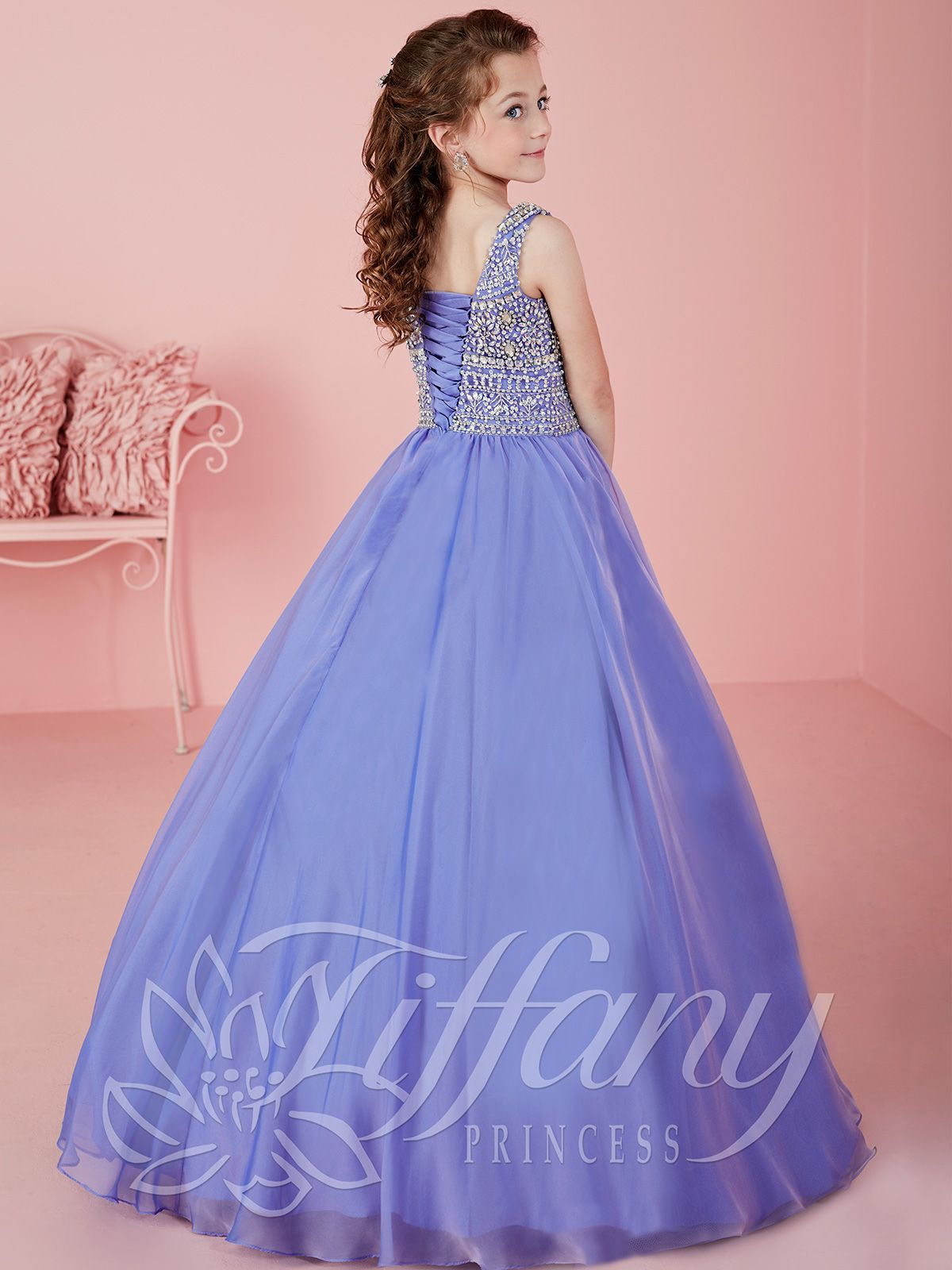 Tiffany Princess 13471 High Scoop Neckline Pageant Dress | Vestidos ...