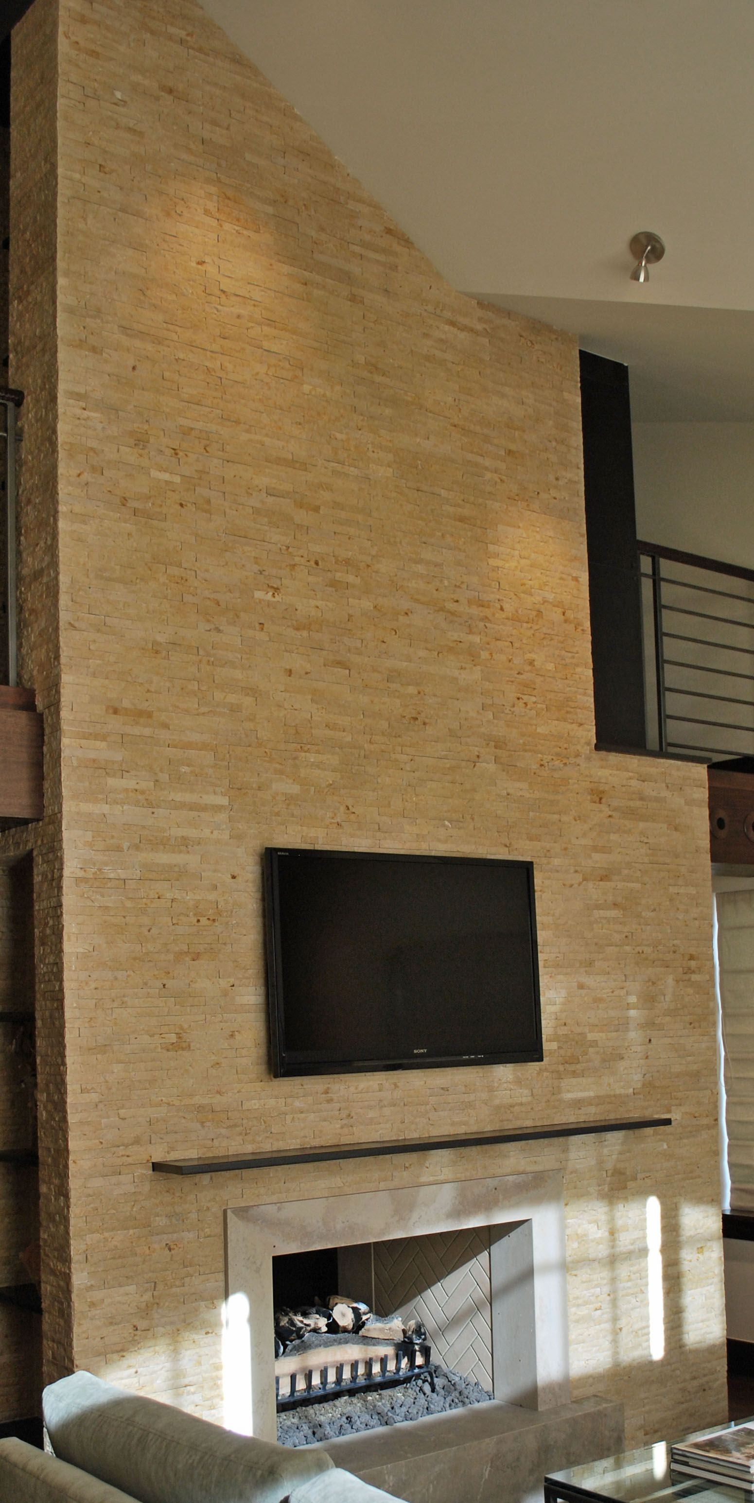 Stone Split Face Fireplace Surround | Lambert Tile's ...