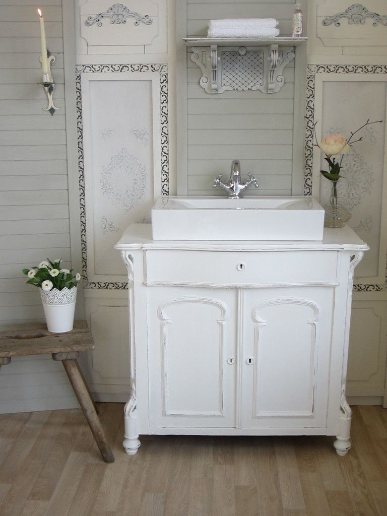 badm bel landhaus land liebe bath room shabby chic pinterest shabby french. Black Bedroom Furniture Sets. Home Design Ideas