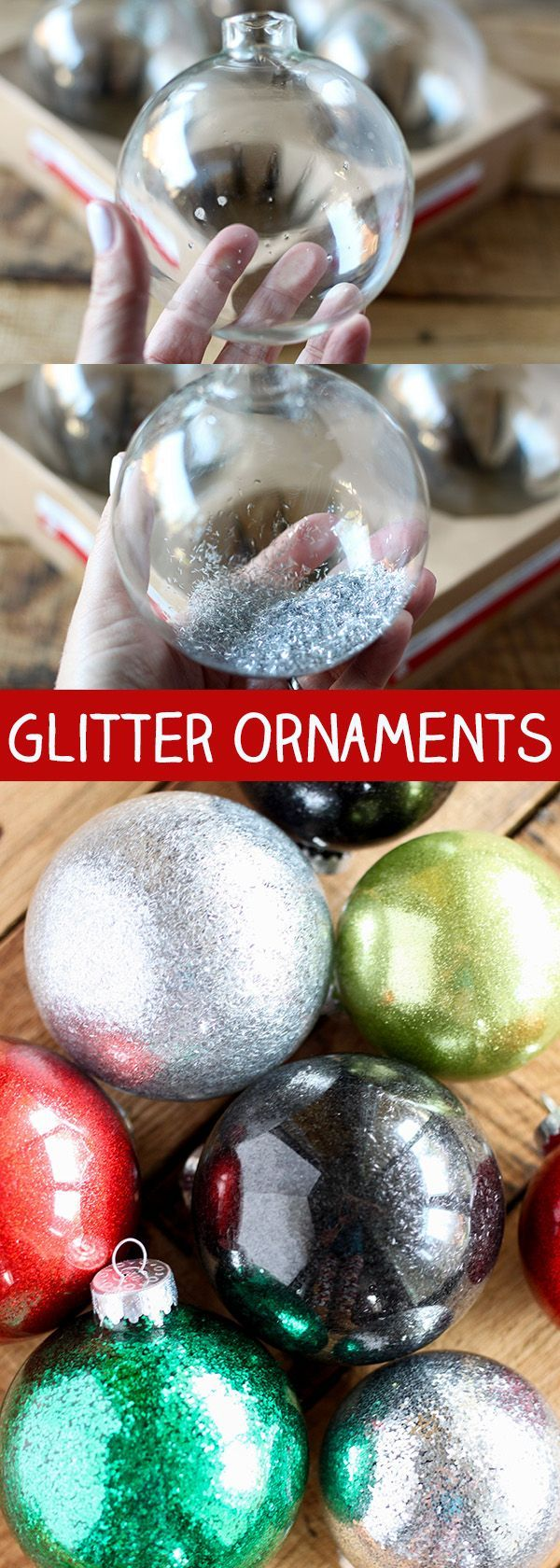 DIY Glitter Ornaments for Christmas Merry Christmas