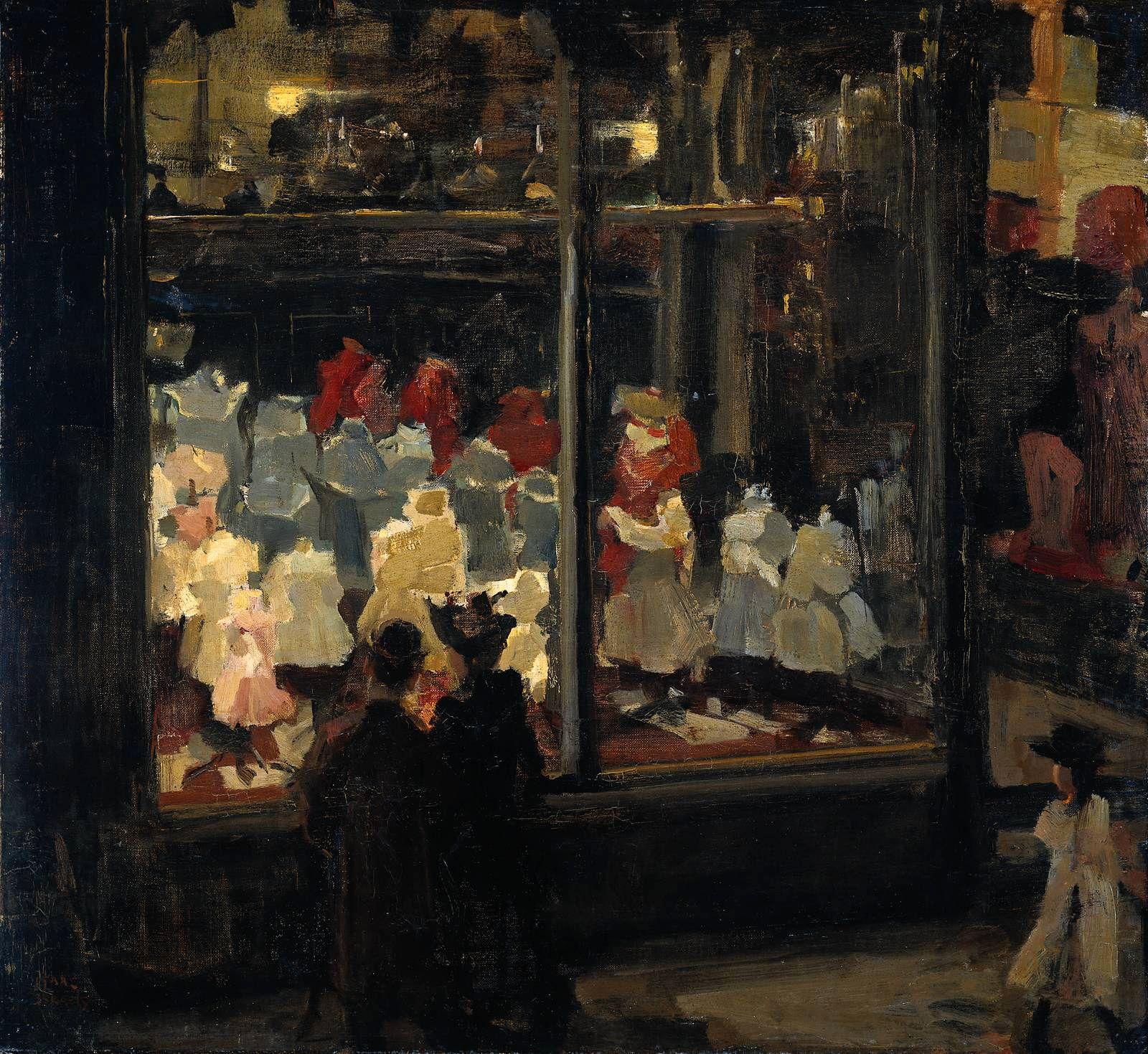 Isaac Israels - Shop window   Oil paintings   Pinterest   Gemälde