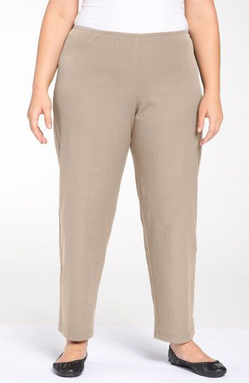 afdfeea58eb59 Eileen Fisher Stretch Organic Cotton Ankle Pants (Plus) available at  Nordstrom