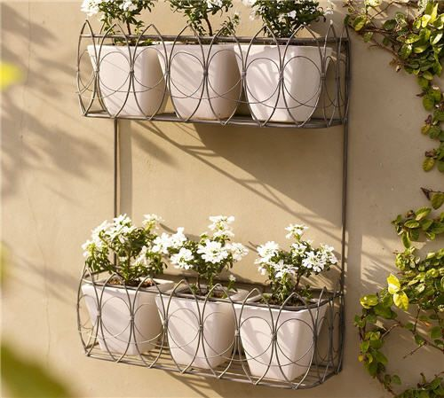 French Flower Wall Mount Planter Garden Wall Planter Wall