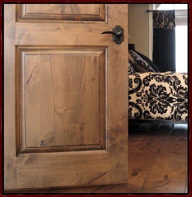 Staining Knotty Alder Doors