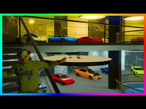 Over 100 000 000 Of New Gta Online Vehicles Gta 5 Dlc Cars Ultimate 60 Car Office Garage Tour Car Office Gta Gta 5