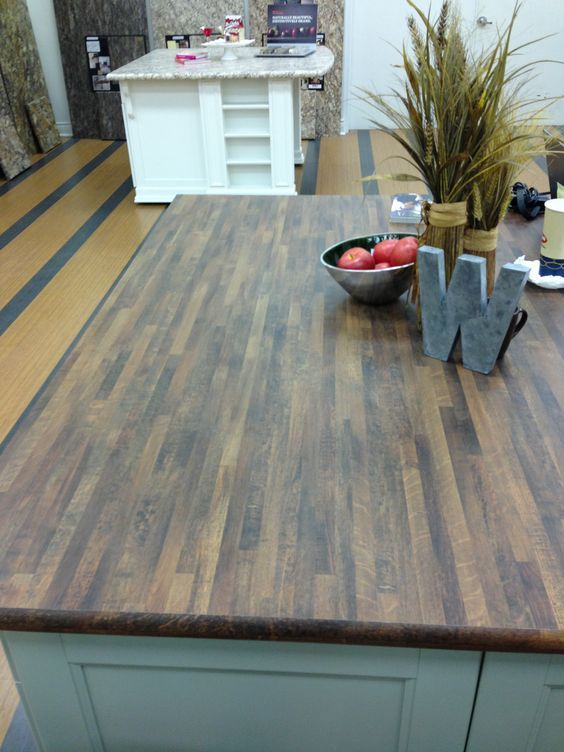 One Of The New Wilsonart Laminate Colors In Old Oak Kitchen