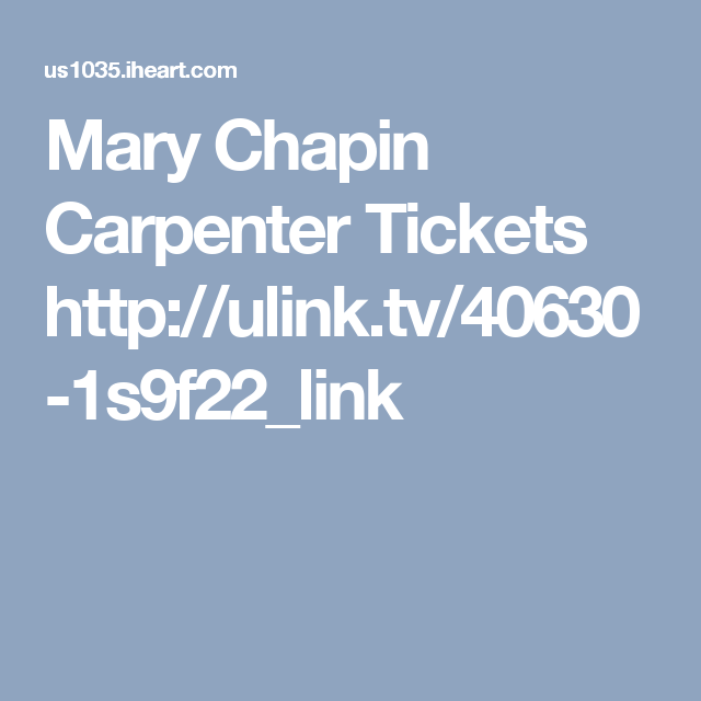 Mary Chapin Carpenter Tickets  http://ulink.tv/40630-1s9f22_link