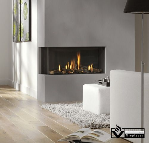 The Bidore 95 is a modern corner fireplace available as left or ...