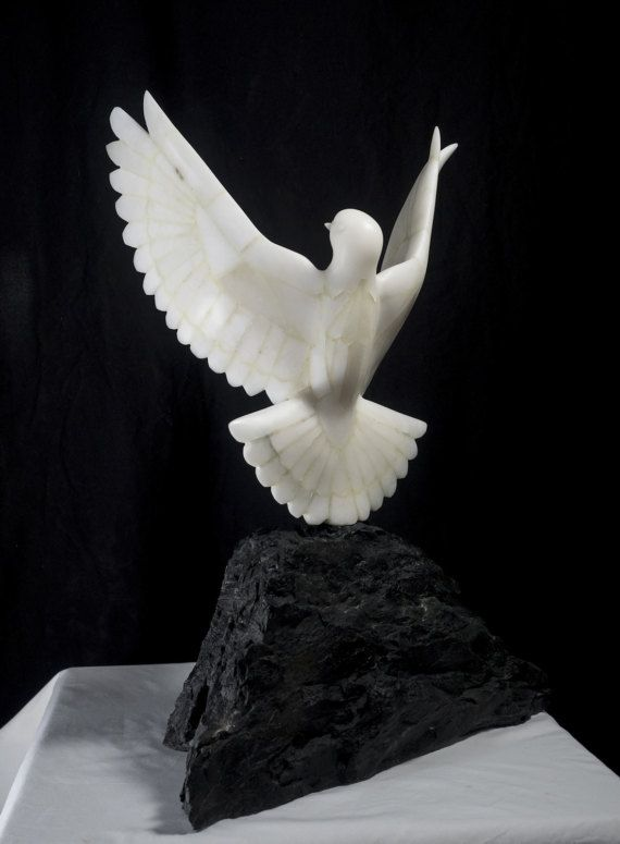 Wildlife art, soapstone dove sculpture, soapstone sculpture, stone dove, bird lover, stone carving, dove carving, gifts for men | Soap stone and sand stone ...