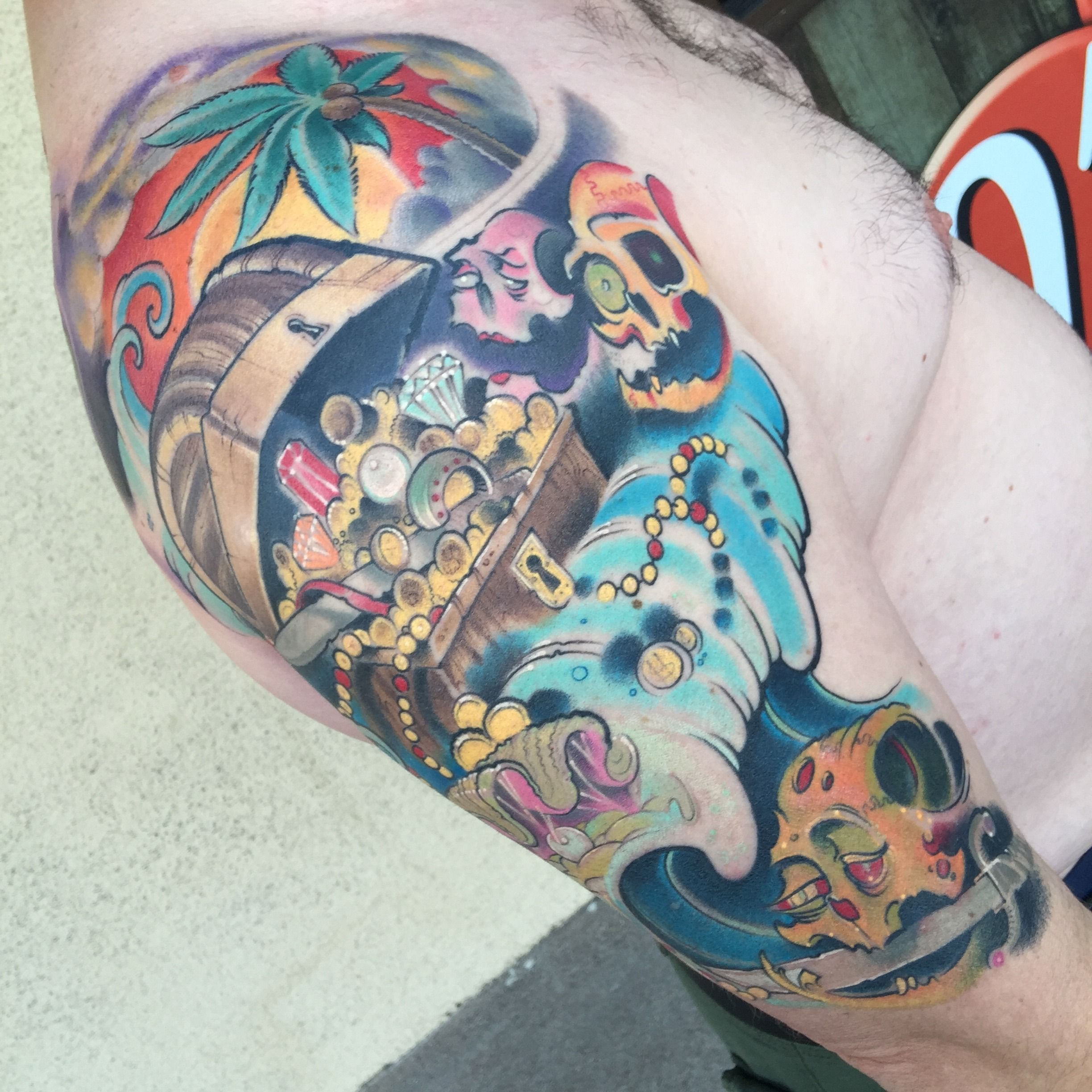 Color New School Tattoo by Austin Spencer at Studio 21 Tattoo ...
