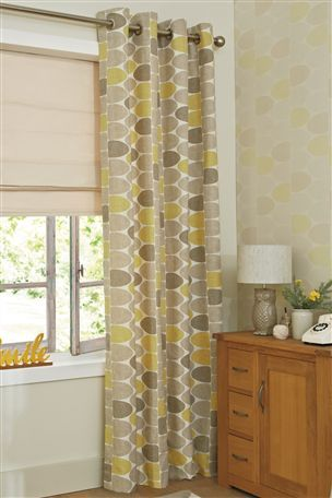 Buy Ochre Finlay Printed Eyelet Curtains From The Next UK Online Shop