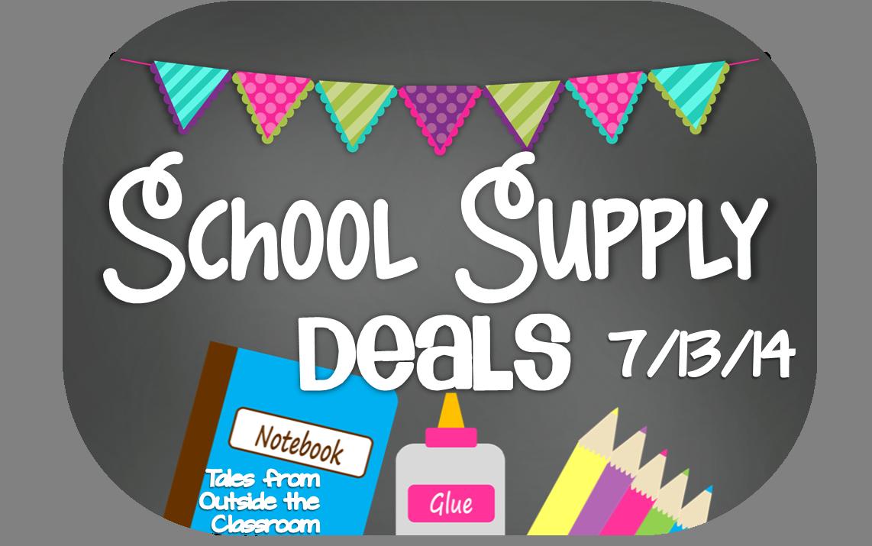 School Supplies Deals- Week of 7/13/14