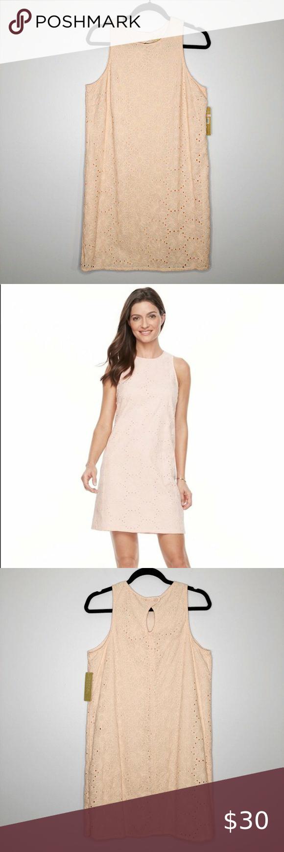 Hope Harlow Pink Floral Eyelet Shift Dress Sz 10 Shift Dress Floral Shift Dress Dresses [ 1740 x 580 Pixel ]