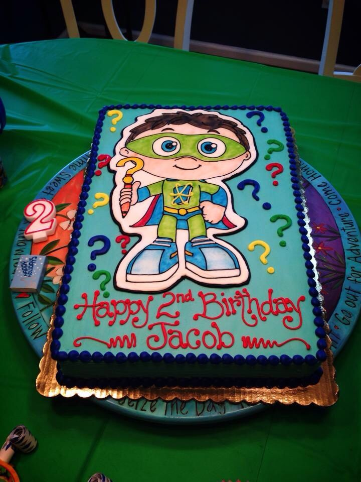 Jacobs Super Why Birthday Cake 2nd Birthday Ideas Pinterest