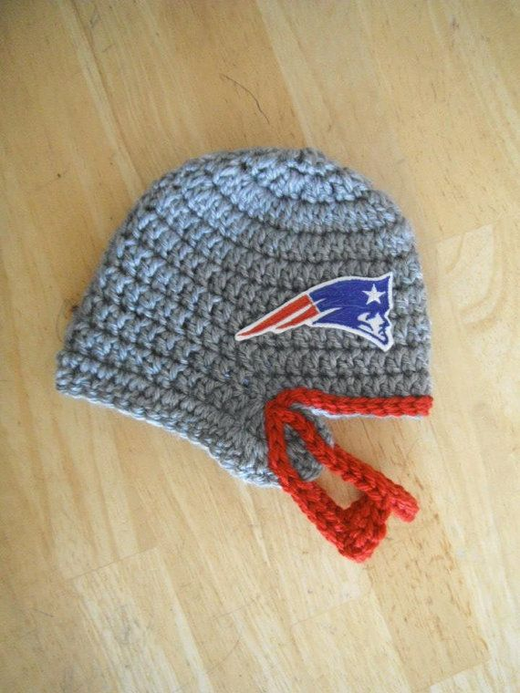 New England Patriots Crochet Baby Football Helmet Hat Baby