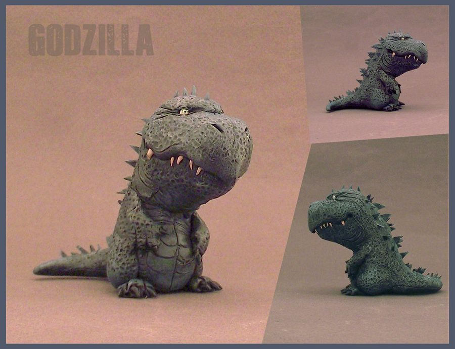 Baby Godzilla By Buzhandmade On Deviantart Cake Toppers Figurines