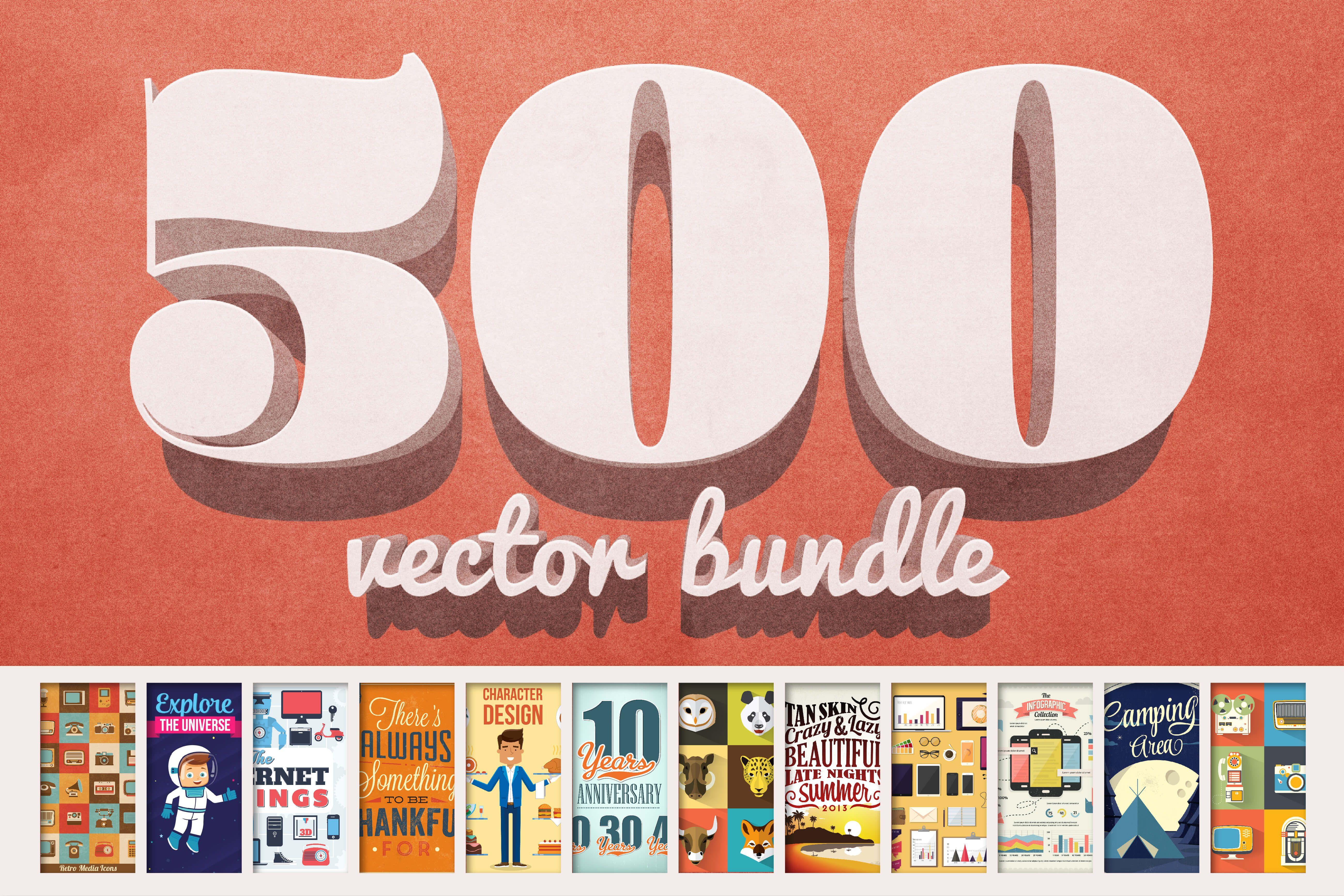 Vectorlicious Bundle 2500 Worth Of Premium Quality Vectors