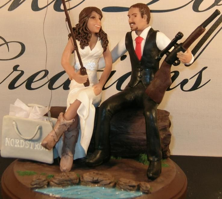 New Hunting Themed Wedding Cake Toppers With For Fishing CakesFishing CakesWestern