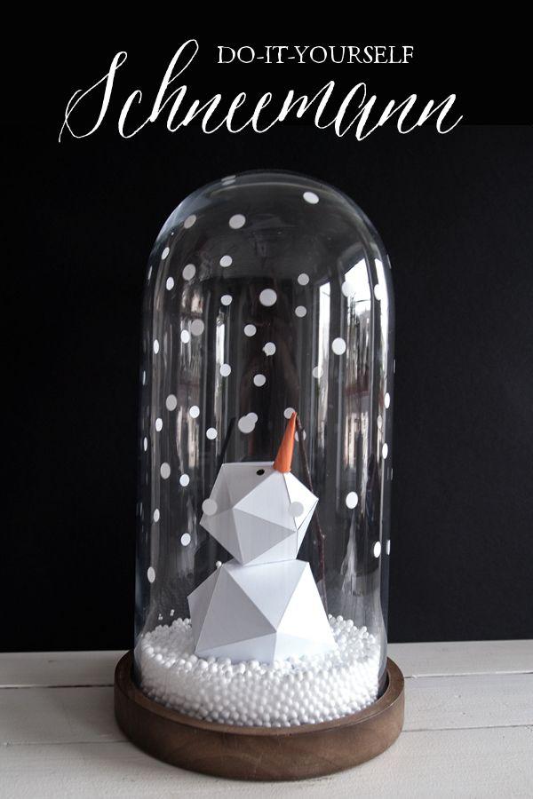 DIY Schneemann im Glas