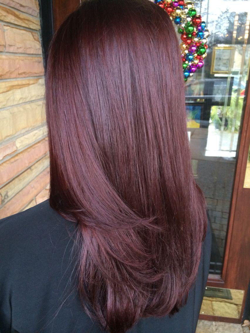 Mahogany Violet Hue Haircolor Done By Me Mahogany Hair Hair Color Mahogany Pretty Brown Hair