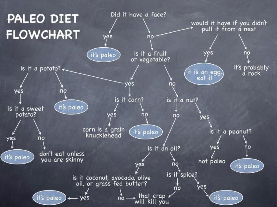 Melt Fat Faster With The Crossfit  Paleo Diet Approach Flowchart