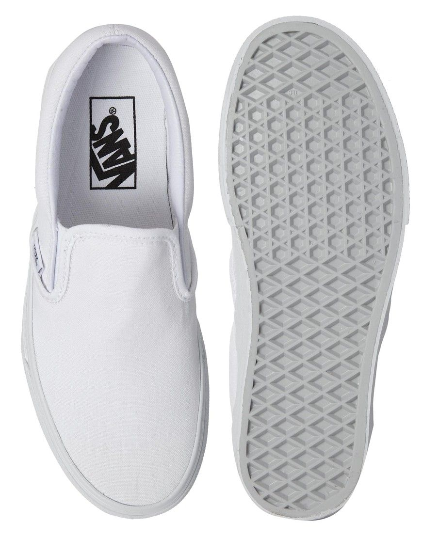 bdbab7d1d929 Image 3 of Vans True White Classic Slip On Sneakers