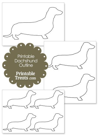 Printable Dachshund Outline Template from PrintableTreats.com ...