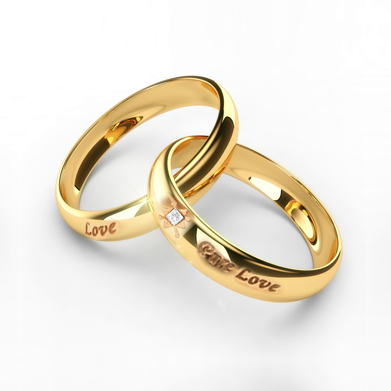 Gold Couple Rings In Grt With Price