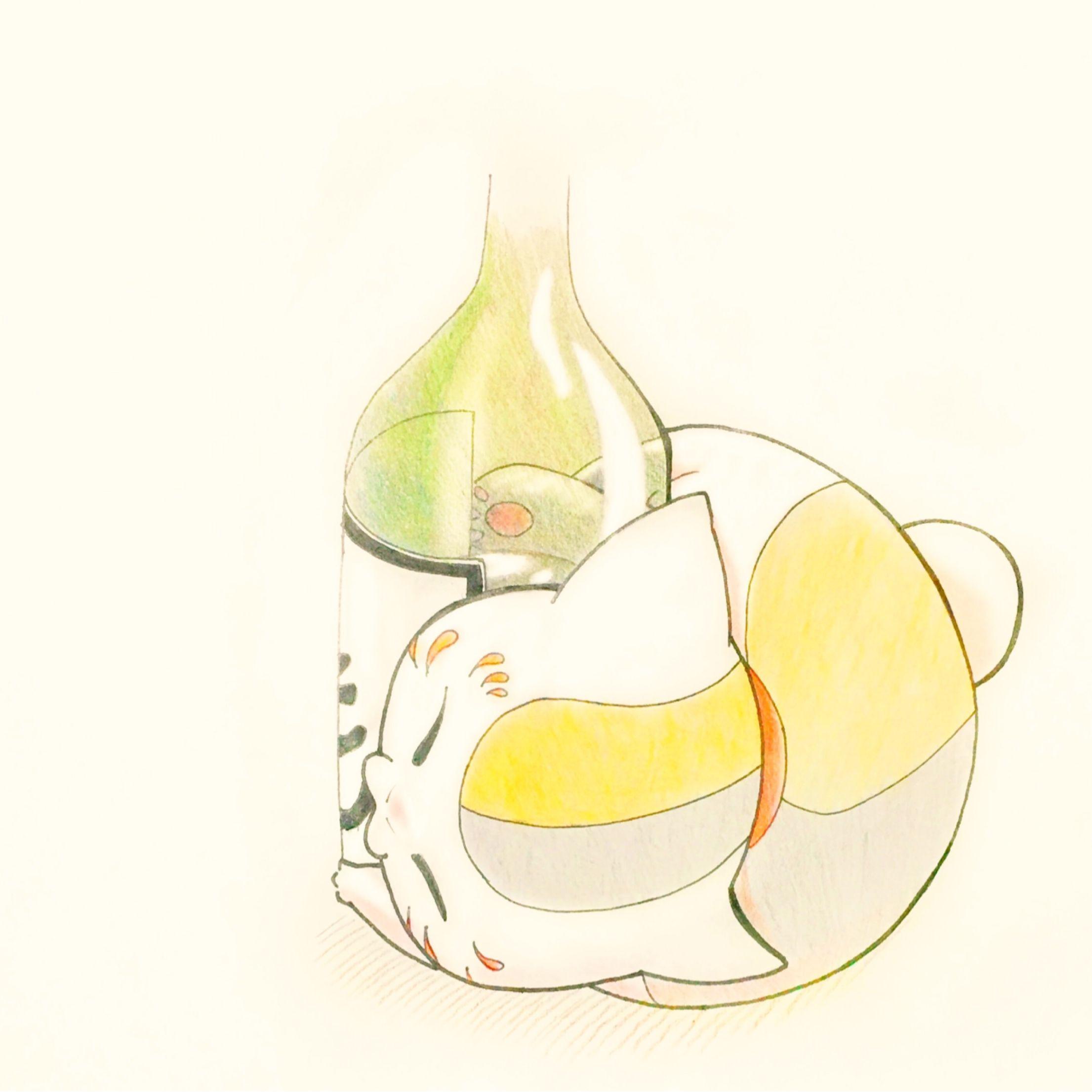 にゃんこ先生 酒ビンver 夏目友人帳 アニメ にゃんこ先生 夏目友人帳 イラスト