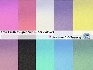 Mod The Sims - Low Plush Carpet in 10 Colours