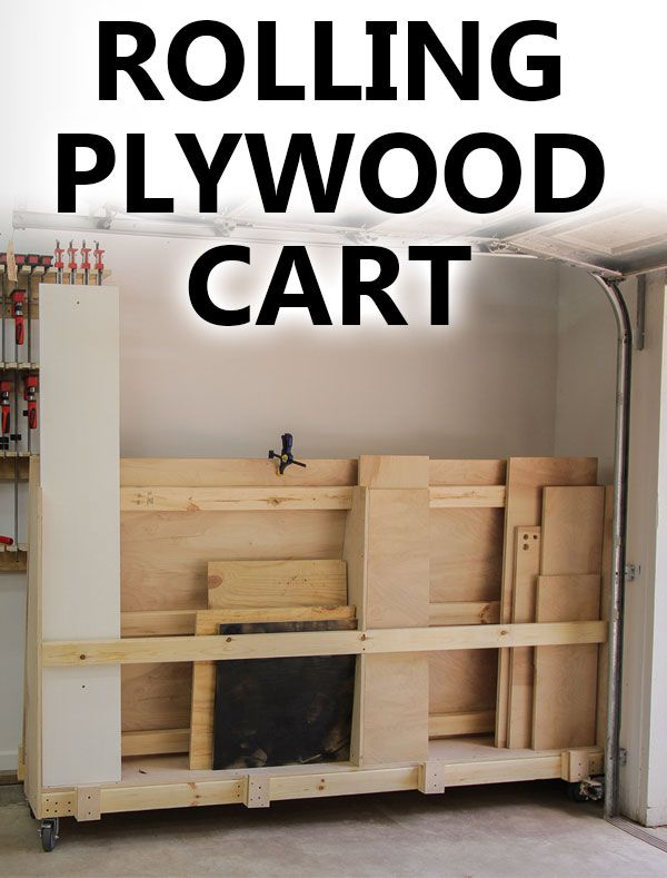 Easy To Make Plywood Cart For Your Garage Or Shop Holds Several