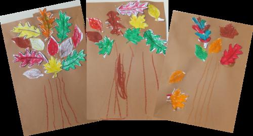 Arbres d'automnes - arts visuels GS
