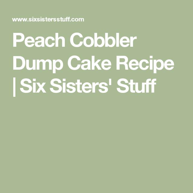 Peach Cobbler Dump Cake #peachcobblerpoundcake Peach Cobbler Dump Cake Recipe  | Six Sisters' Stuff #peachcobblerpoundcake Peach Cobbler Dump Cake #peachcobblerpoundcake Peach Cobbler Dump Cake Recipe  | Six Sisters' Stuff #peachcobblerpoundcake