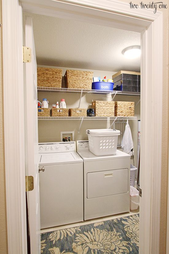 Organizing a Small Laundry Room Small laundry rooms Small