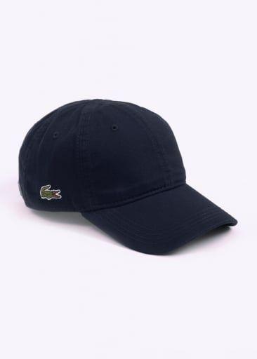 f2a220870a6 Ropa De Hombre · Estilos De Verano · Lacoste Twill Logo Baseball Cap - Navy  Bone Masculino