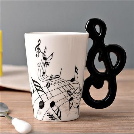 Novelty Guitar Ceramic Personality Music Note Cup #ceramicmugs