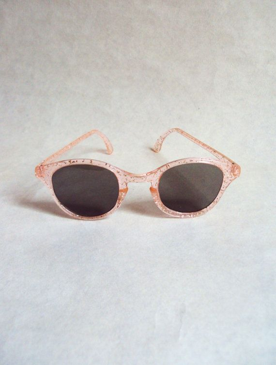 Items similar to RESERVED - 1950s Pink glitter lucite sunglasses on Etsy