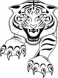 60 Tiger Shape Templates Crafts Colouring